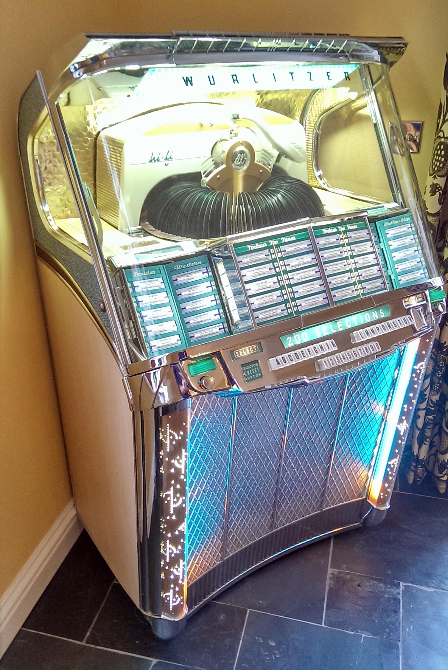 wurlitzer 2100 delivered for christmas  u2013 the jukebox shop